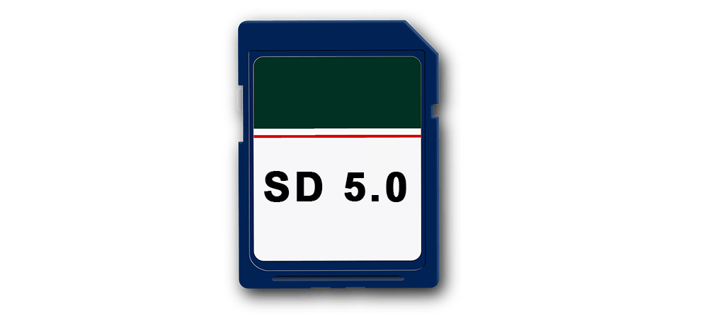 SD 5.0 Memory Cards