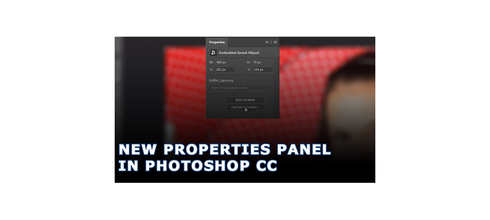 New Properties Panel in Photoshop CC 2017