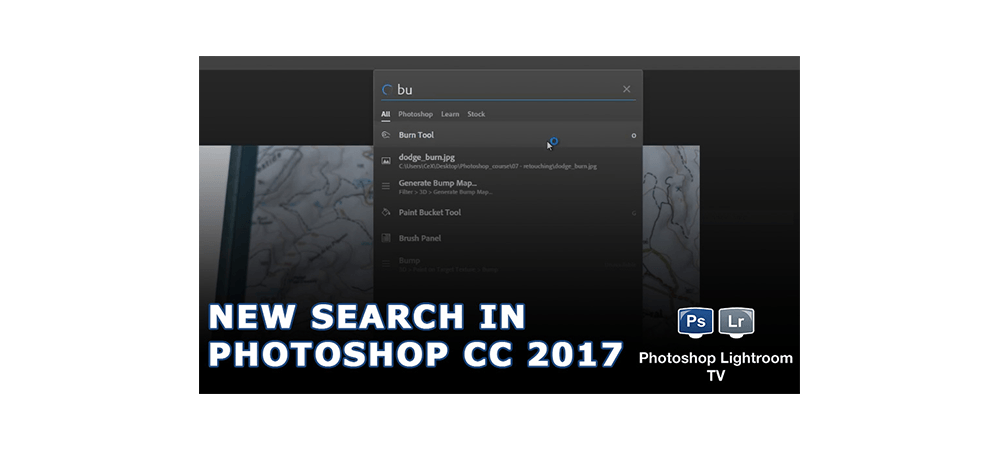 New Search in Adobe Photoshop CC 2017