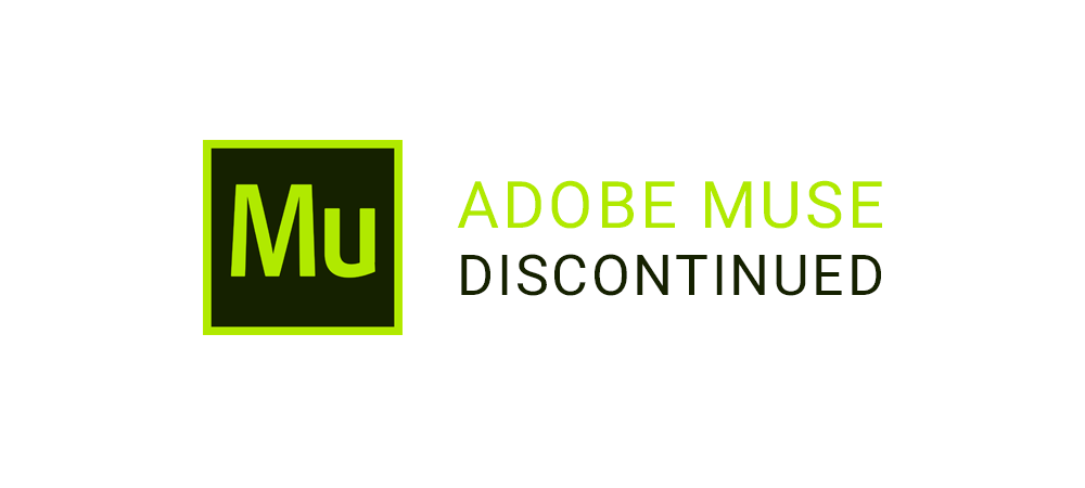 Adobe Muse discontinued