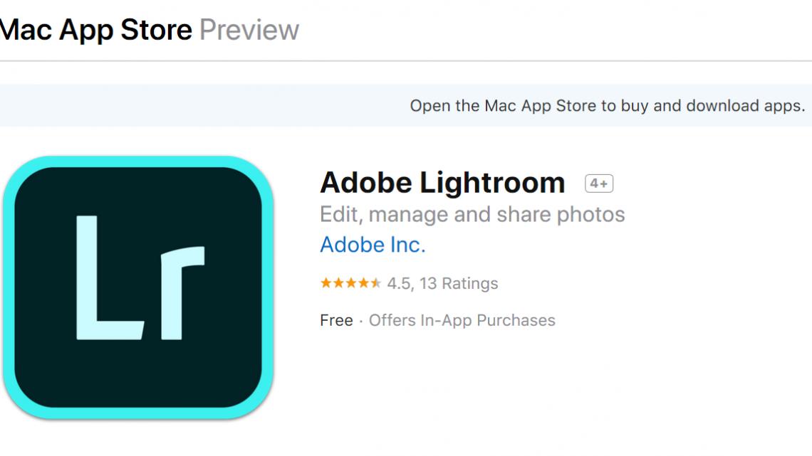 Lightroom available on Apple Mac App Store – PHOTO VIDEO BEAT