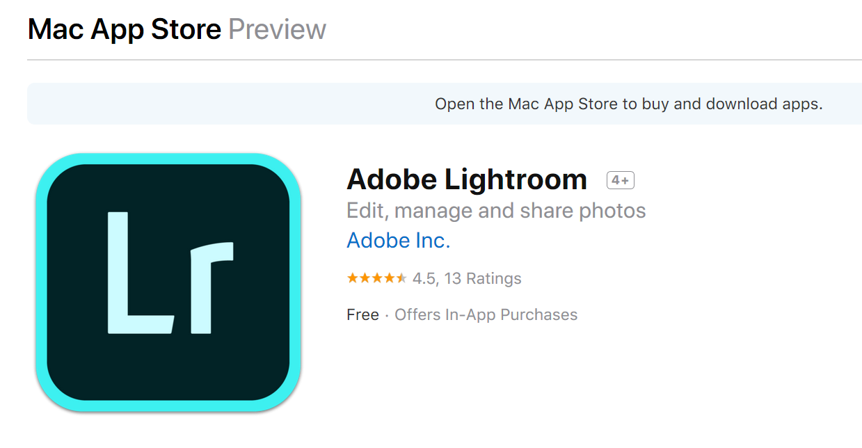 Adobe Lightroom on Apple App Store