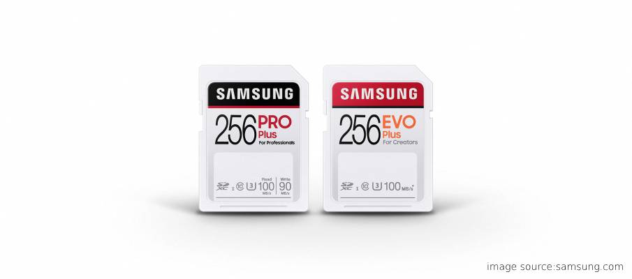 Samsung PRO Plus and EVO Plus cards