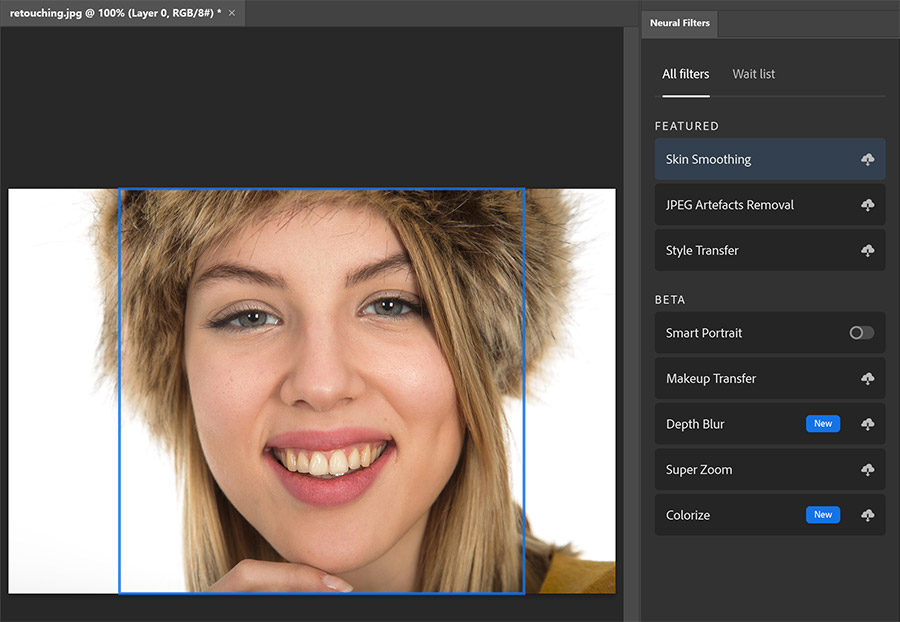 Neural filters in Adobe Photoshop